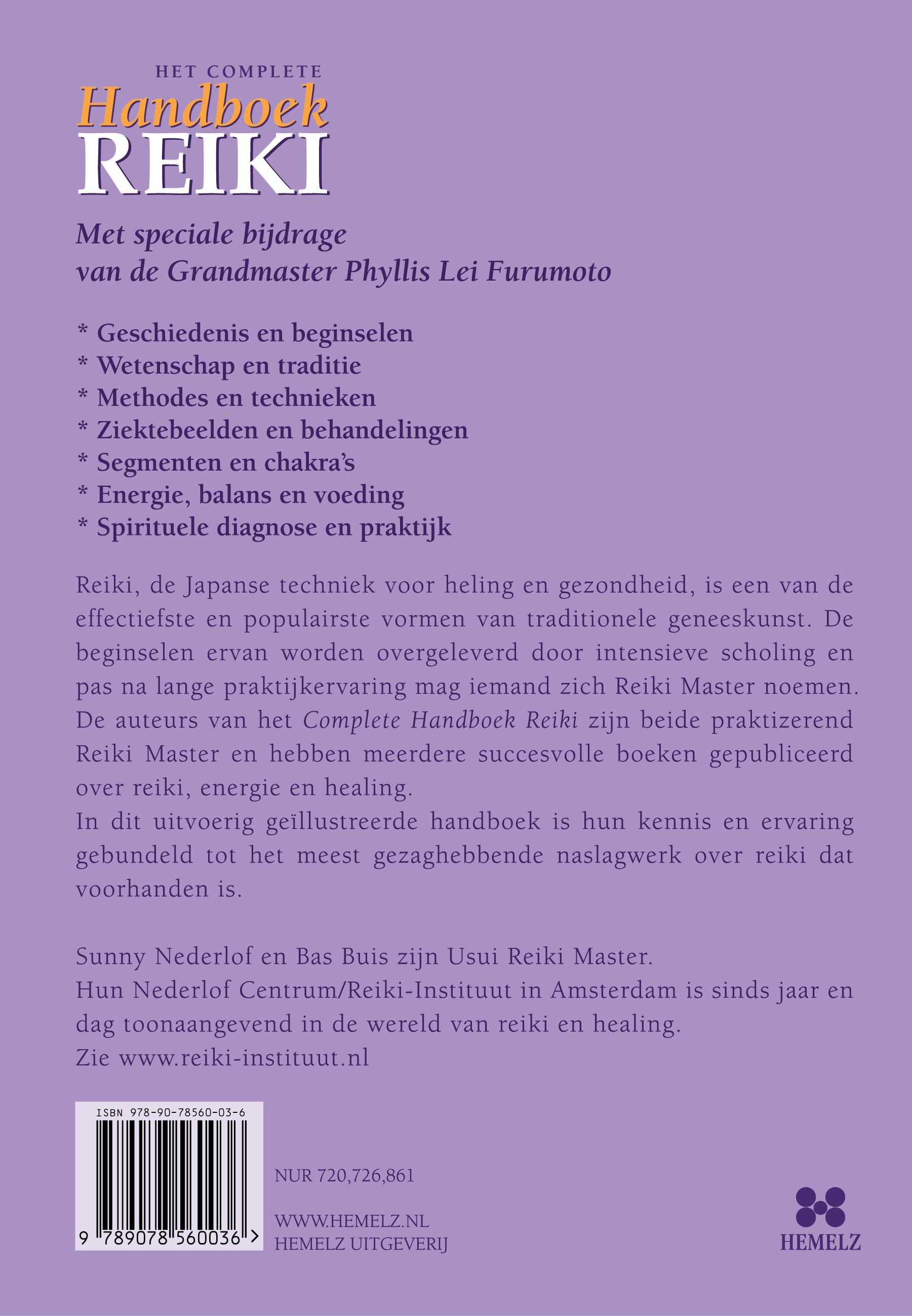 Complete Handboek Reiki - achterflap
