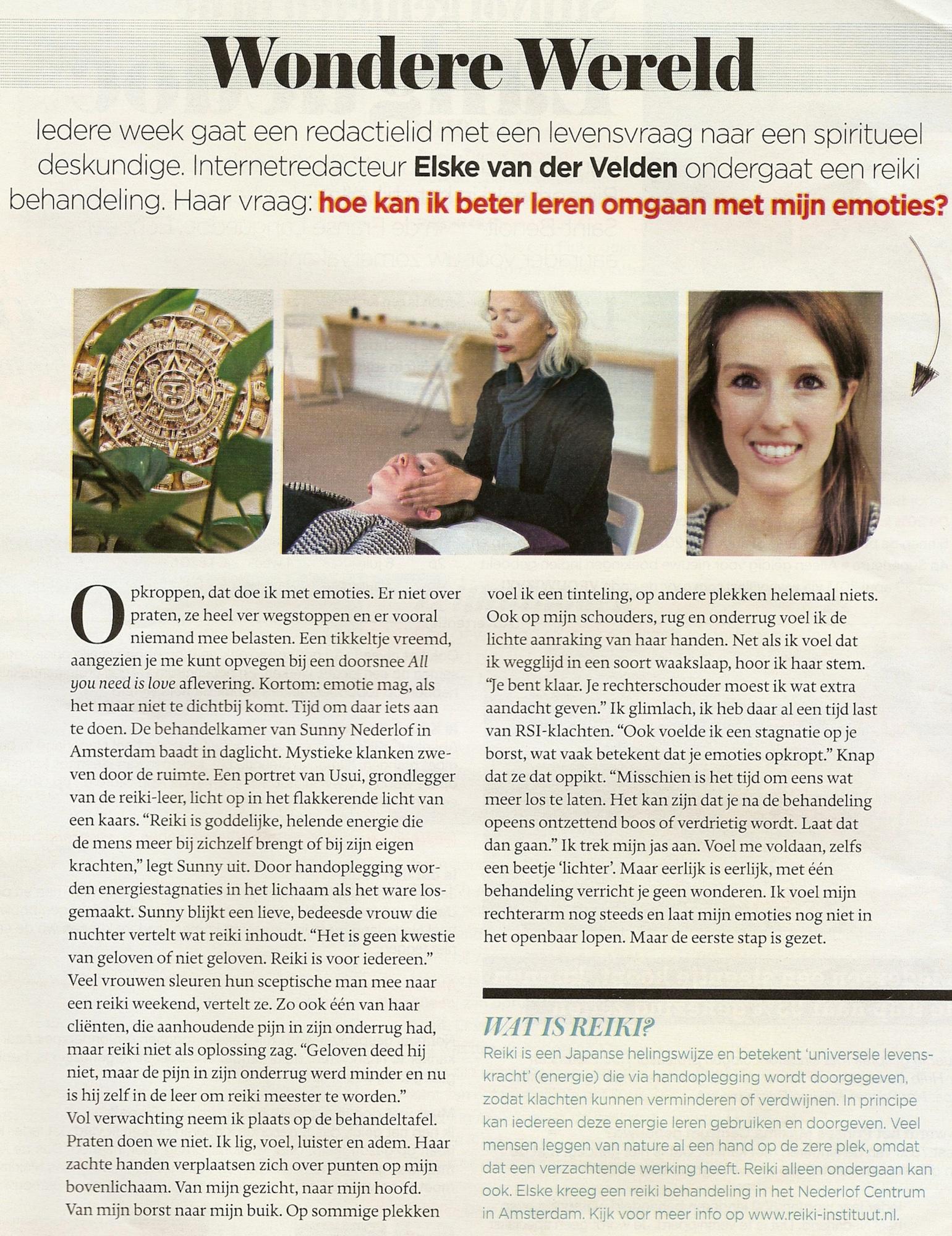 Reiki Handboek Telegraaf